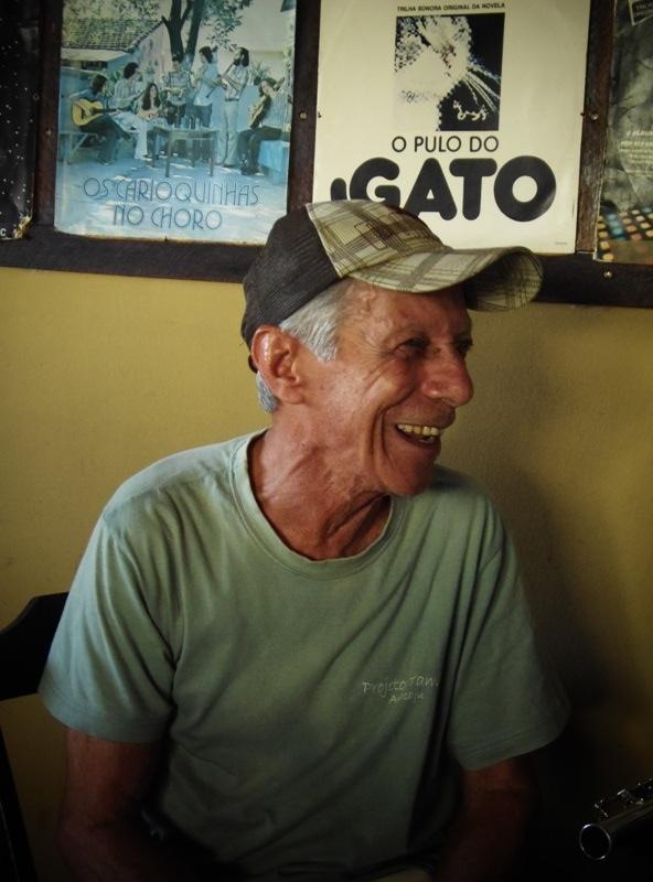 O flautista durante sua entrevista à Chorografia do Maranhão, que inaugurou a série. Foto: Rivanio Almeida Santos
