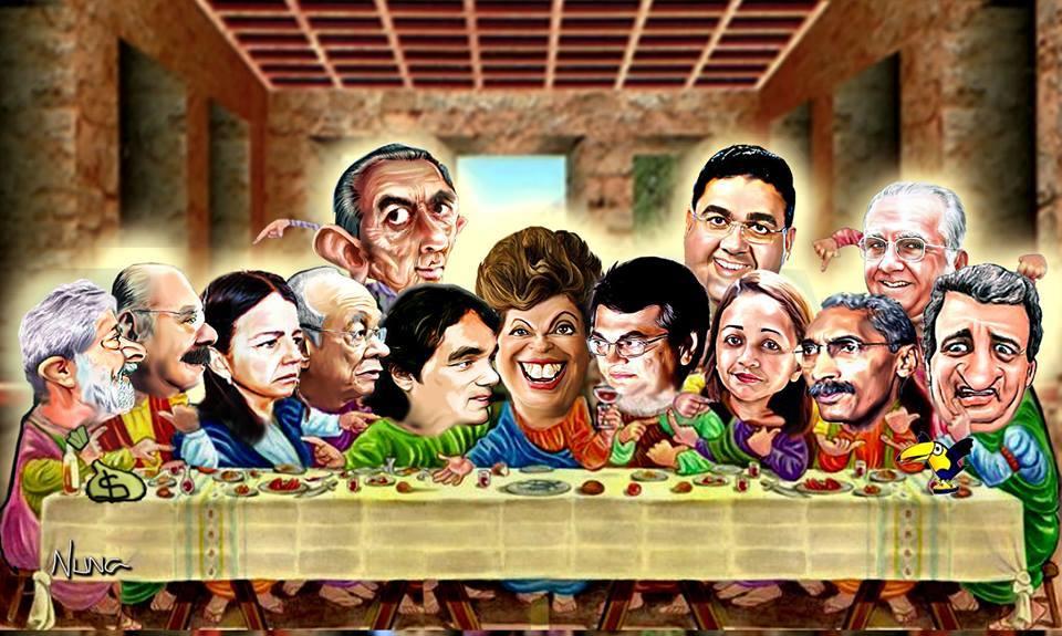 """A """"santa"""" ceia de Nuna Neto. O Imparcial, 18/4/2014"""