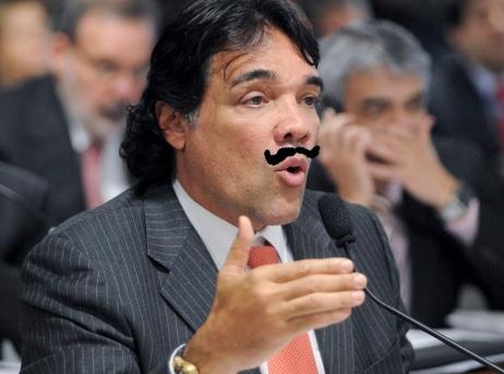Lobinho em pele (ou bigode) de Sarney. Foto: Geraldo Magela/ Agência Senado (com intervenção de Zema Ribeiro)