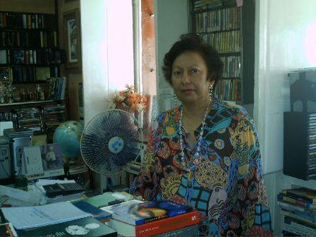 Dona Moema, clicada pelo blogueiro, durante entrevista que me concedeu em 2006