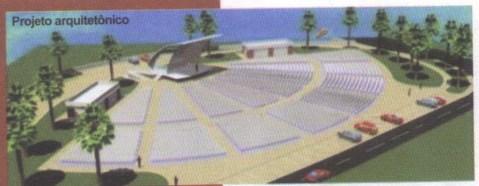 Projeto arquitetônico da Concha acústica. Guia do Servidor, 2010