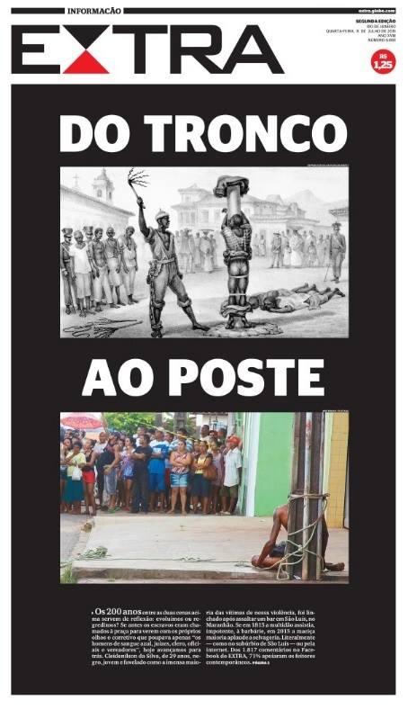 Capa do Extra (RJ) de hoje (8). Reprodução