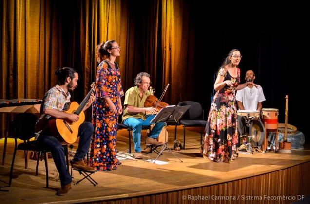 O Ilumiara em apresentação no Sesc/DF. Foto: Rafael Carmona/ Sistema Fecomércio/DF