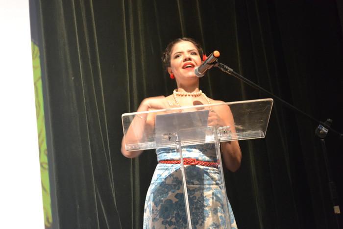 A idealizadora e produtora do Maranhão na Tela em cerimônia de edição anterior do festival. Foto: divulgação