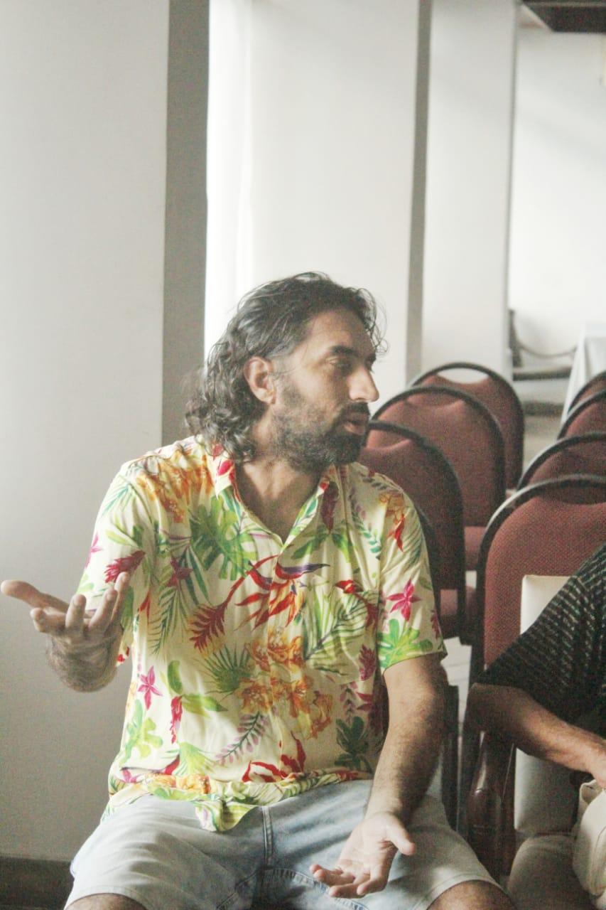 O diretor Léo Garcia. Foto: Juliana Costa