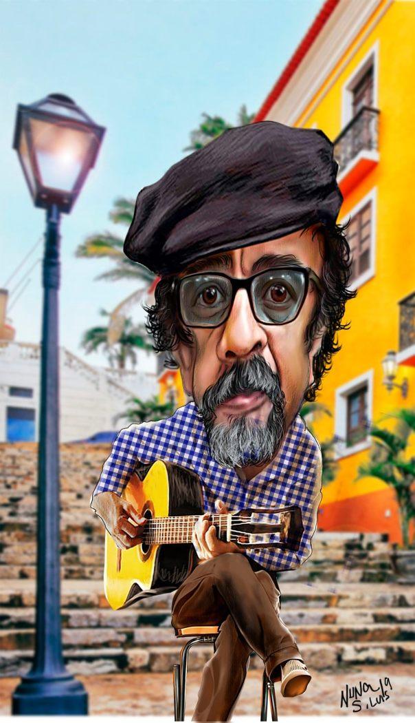 Em caricatura de Nuna Neto, o homenageado da temporada, o compositor Joãozinho Ribeiro