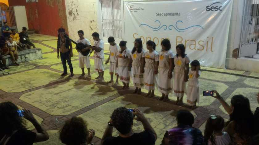 O grupo Teko Guarani do Povo Mbyá - Guarani. Foto: Francisco Colombo