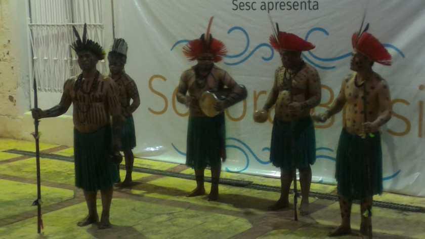 O grupo Nóg Gã do Povo Kaingang. Foto: Francisco Colombo