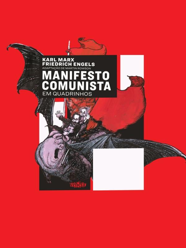 Manifesto comunista em quadrinhos. Capa. Reprodução